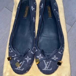 Authentic Louis Vuitton ballerina flats